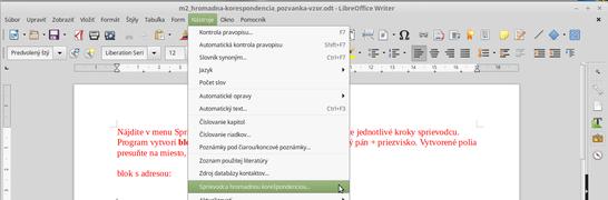 M2 hromadna-korespondencia sprievodca writer.png