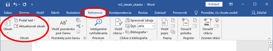 M2 obsah menu word.png